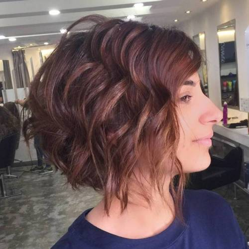 Wavy Chestnut Brown Bob