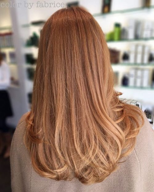 Long Soft Copper Hair
