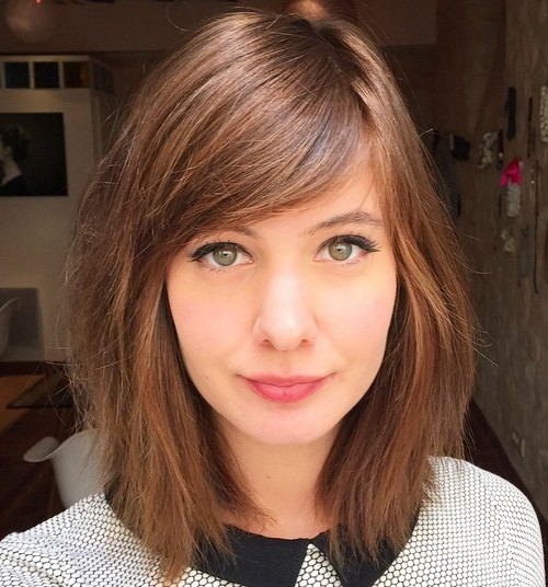 40 side swept bangs to sweep you off your feet medium razored haircut with side bangs urmus Image collections