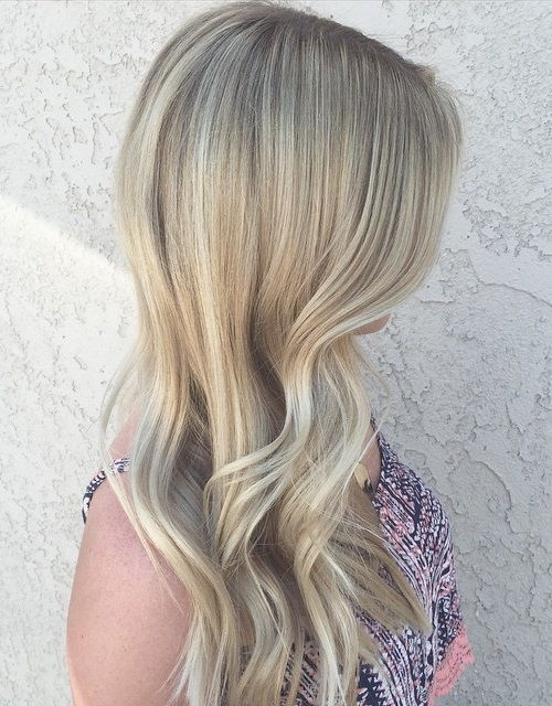 brown blonde balayage