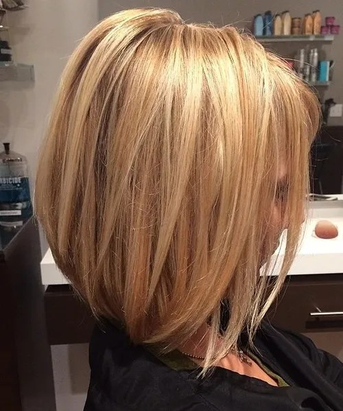 honey blonde lob