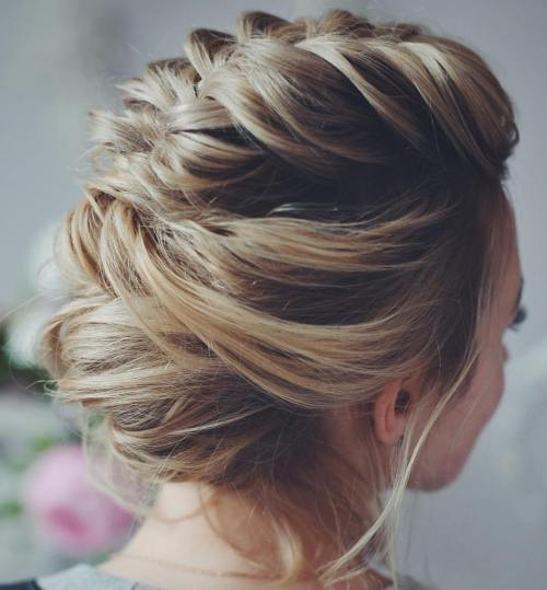 Messy Loosely Braided Updo