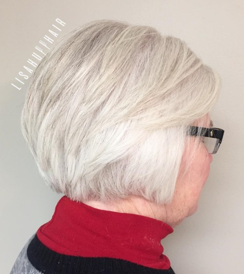 Over Short Gray Hairstyle