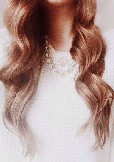strawberry blonde curls
