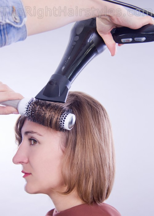how to blow dry thing hair
