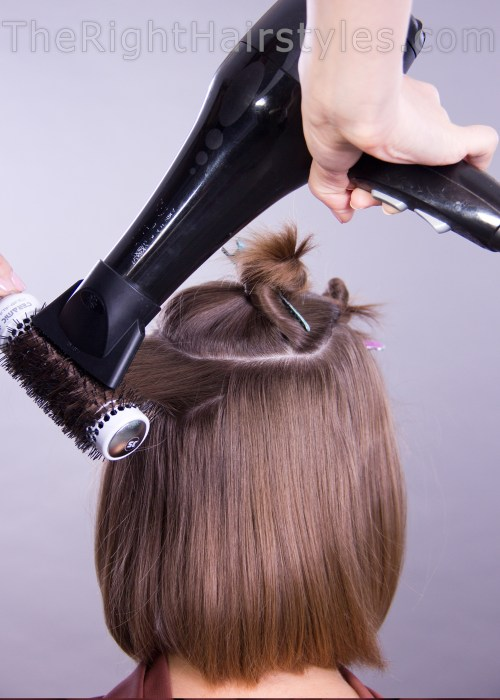 how to pull out hair with a blow-dryer