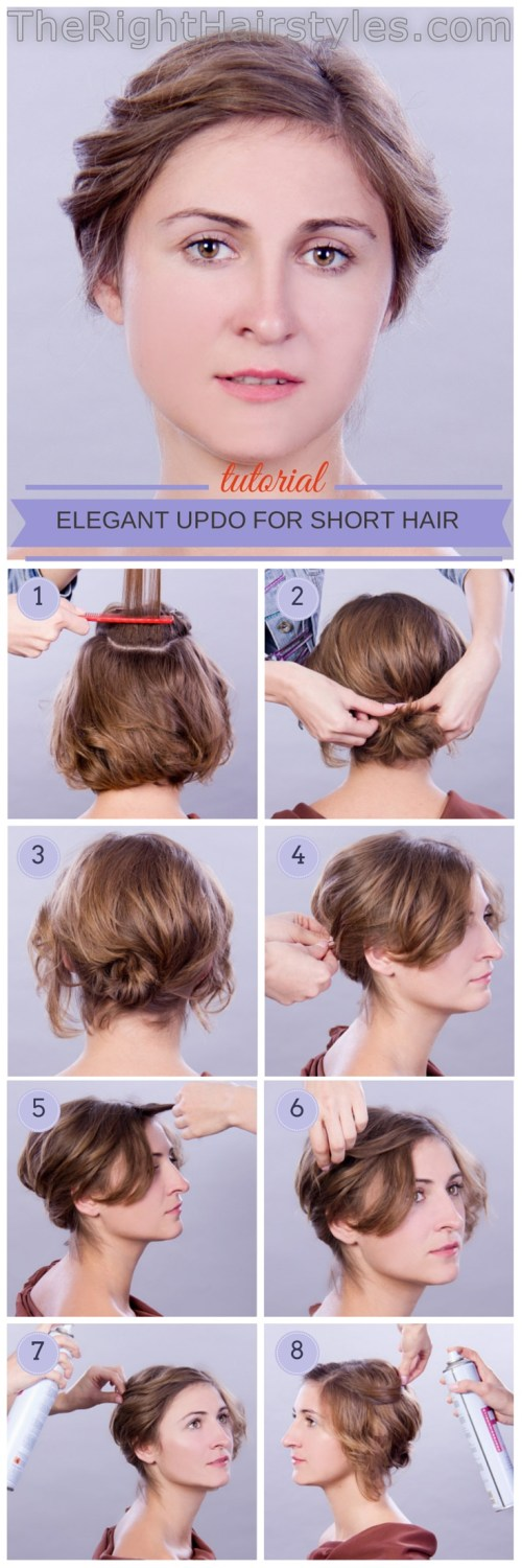 How To: Elegant Updo For Short Fine Hair