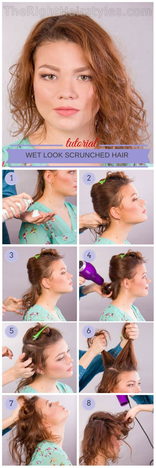 scrunched hair tutorial