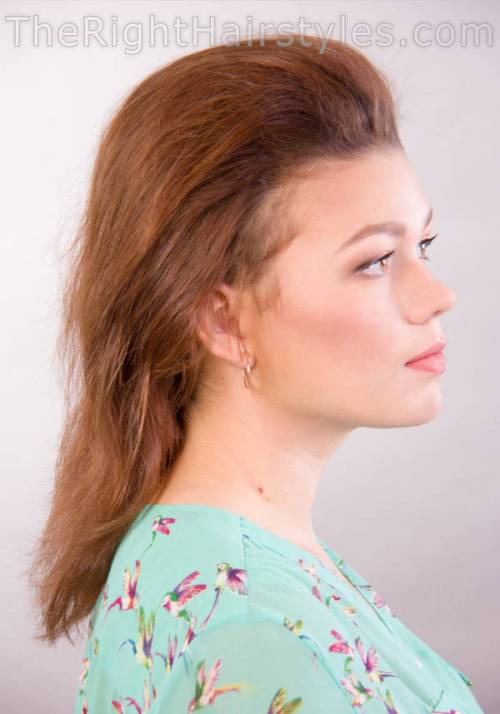 bouffant for updo