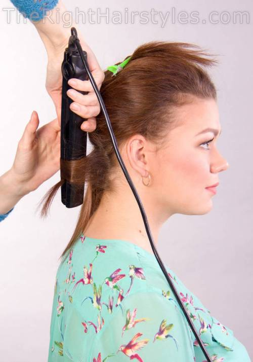 shaping curls with flat irons