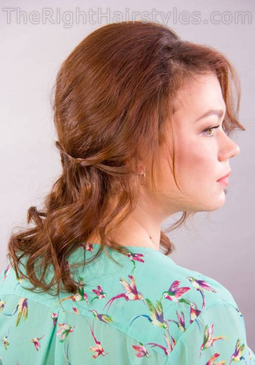medium messy hairstyle with a bouffant
