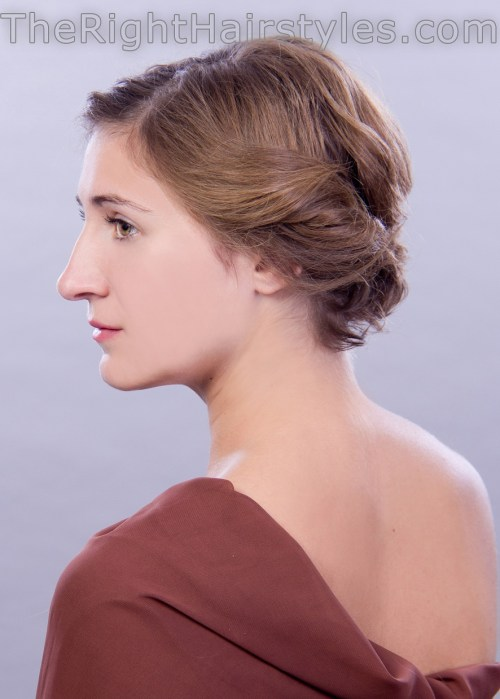 curly updo for short fine hair