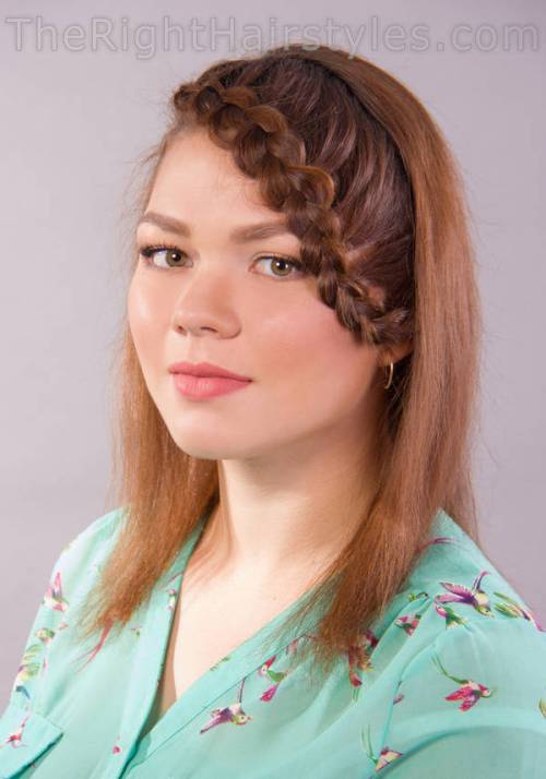 hairstyle with braided bangs