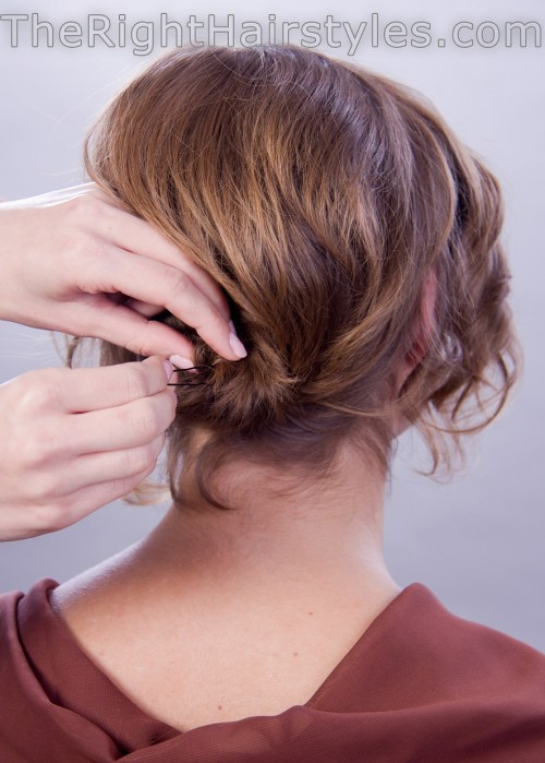 knot in the nape for short fine hair