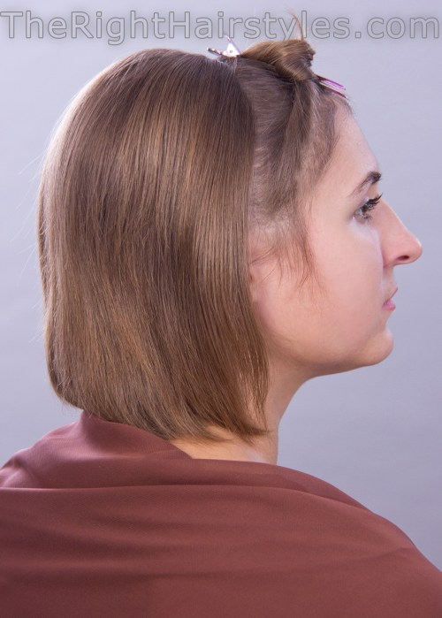 hairstyle for short hair with a bouffant