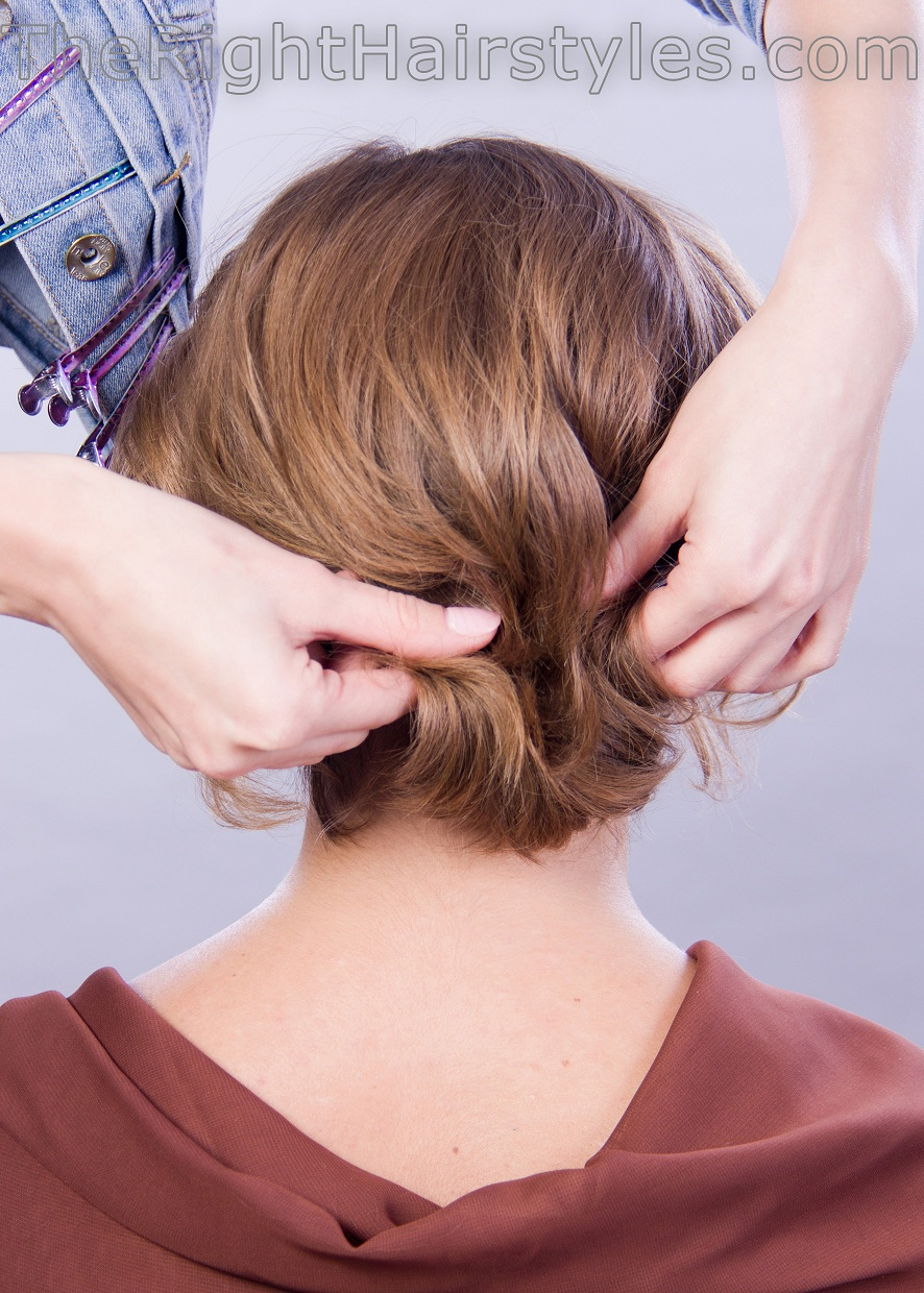 how to style updo for short hair