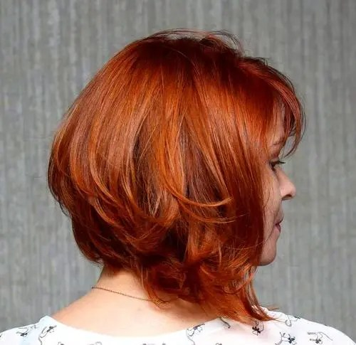 long layered angled bob