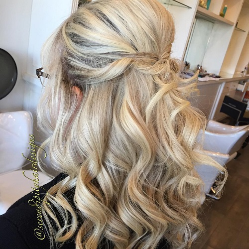 Hairstyles For Wedding Guest wedding hairdo ideas Curly Formal Half Updo With A Bouffant