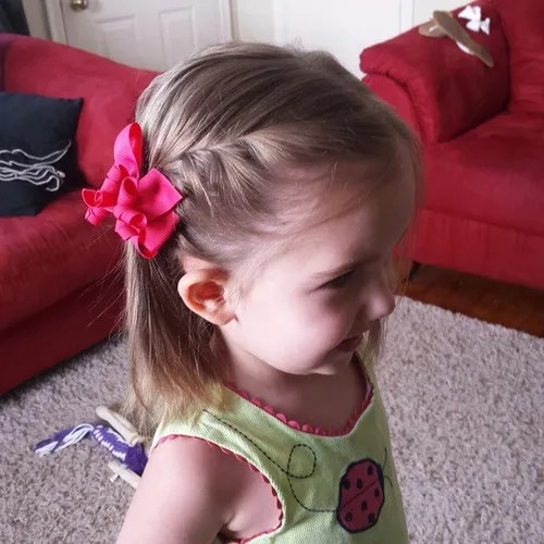 side braid hairstyle for 4 year old little girls