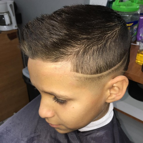 Boys Quiff Hairstyle With Low Fade