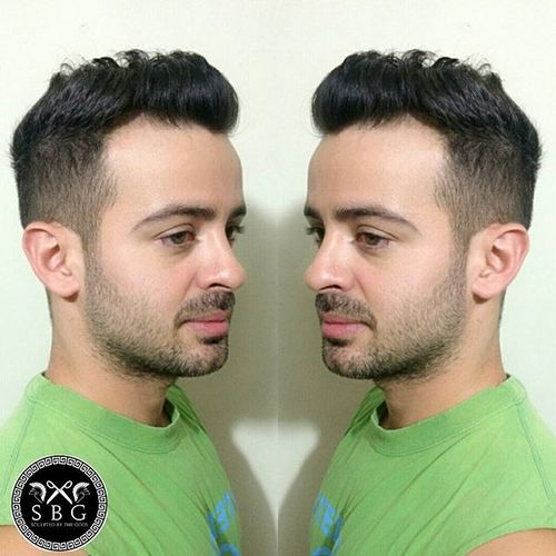 curly tapered haircut for men