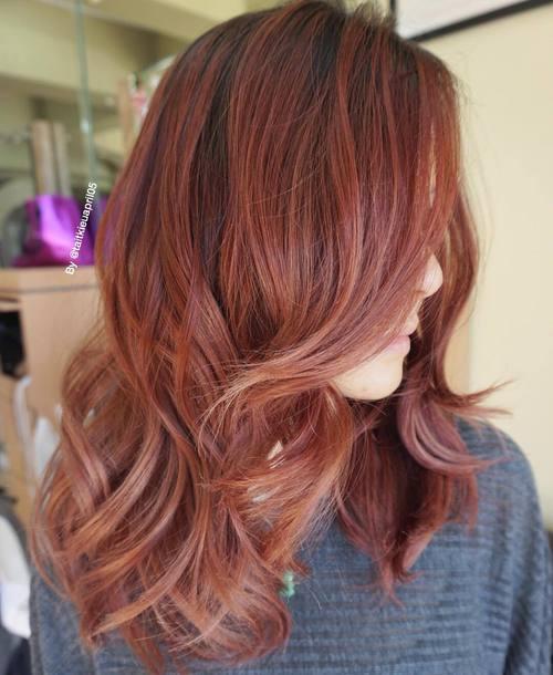 Good Rosewood Balayage Hair Idea