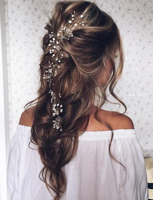 Loose Wedding Half Updo
