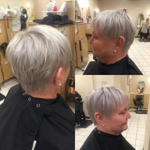 Over Layered Gray Pixie
