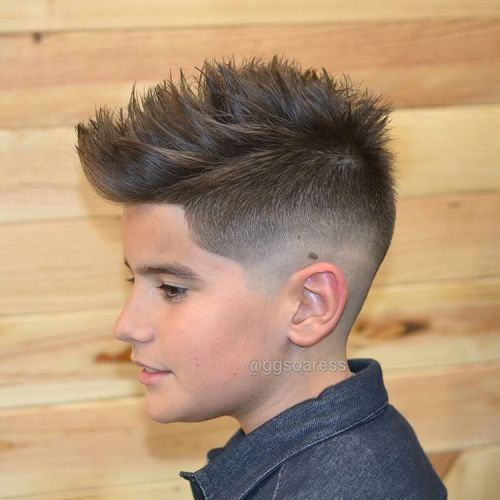 Choppy Fauxhawk Fade For Teens