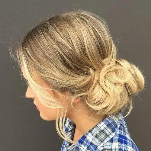hairstyles for wedding guest. low curly updo hairstyles for wedding guest g