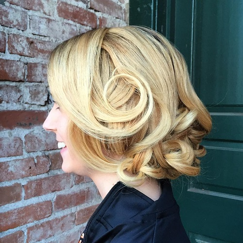 Curly Loose Formal Updo