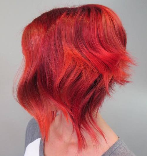 Funky Pink And Orange Hair Color