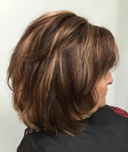 Medium Layered Brown Hairstyle
