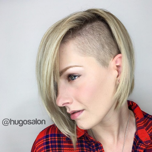 Bob With Asymmetrical Side Undercut