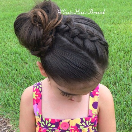 Braid Into Side Bun For Girls