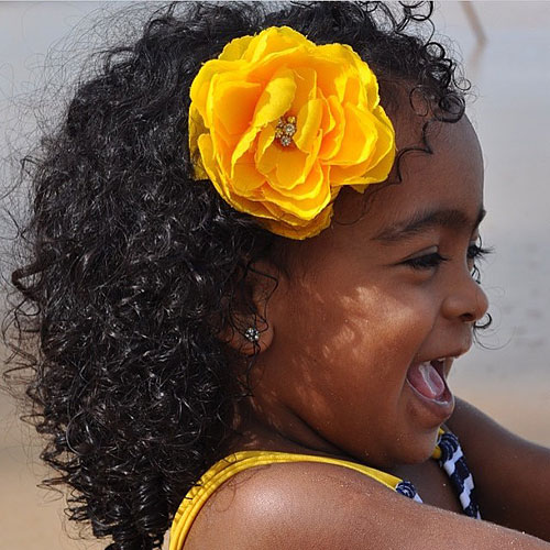 black toddler natural hairstyle