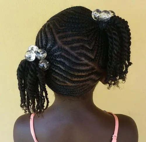 black girls braided hairstyle