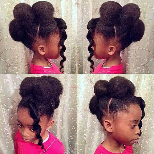 faux hawk updo for little black girls