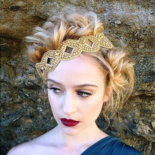 two messy buns updo