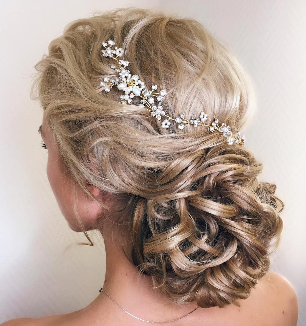 Captivating Wedding Low Loopy Bun For Long Hair