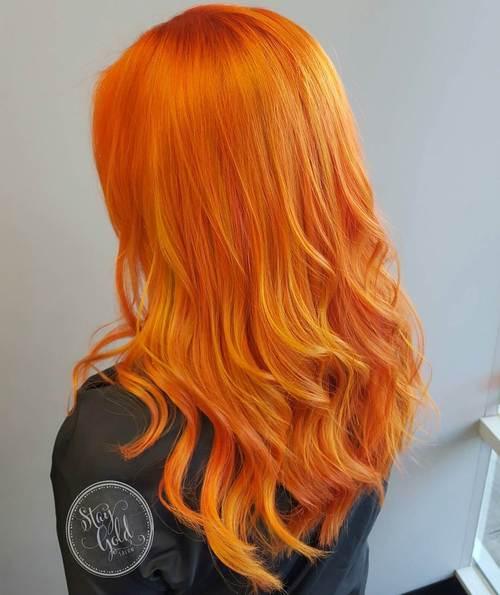 Orange Y Red Hair Color