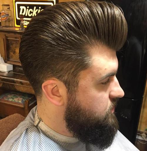 Pompadour With Full Beard