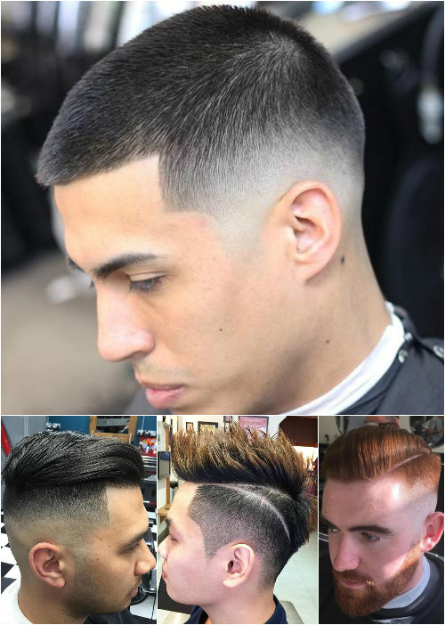 men's high and low fades