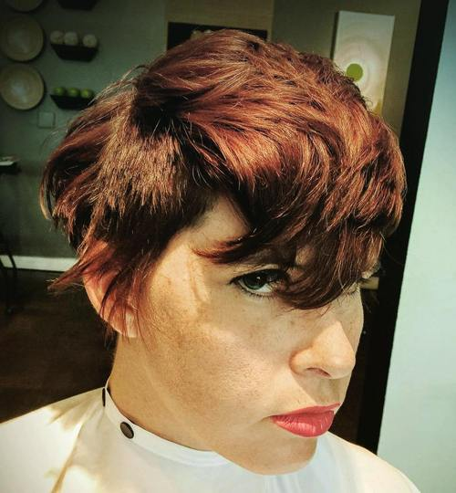 long pixie haircut for thick hair