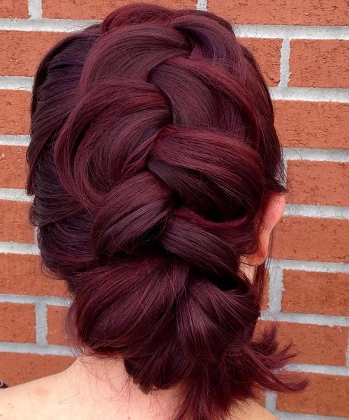 Thick Mohawk Braid Updo