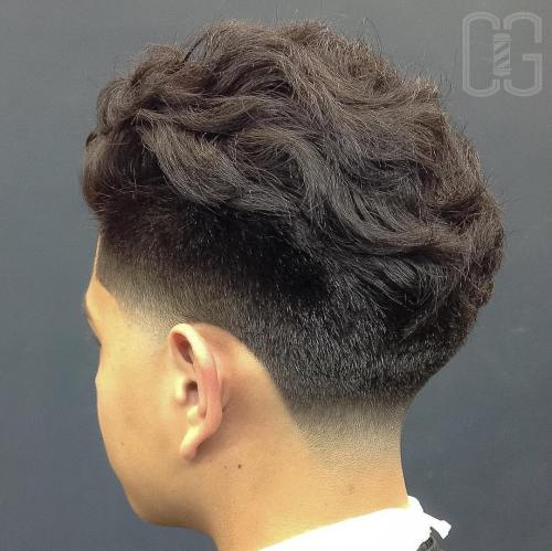 Wavy Taper Fade Haircut