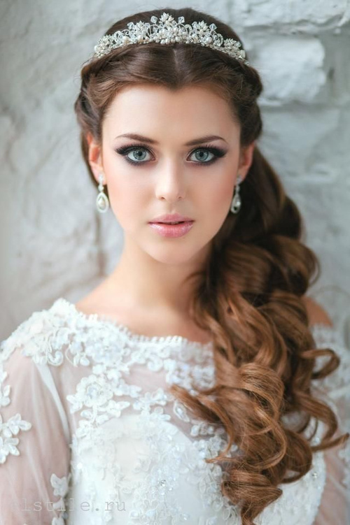Wedding Half Up Down Hairstyle For Long Hair