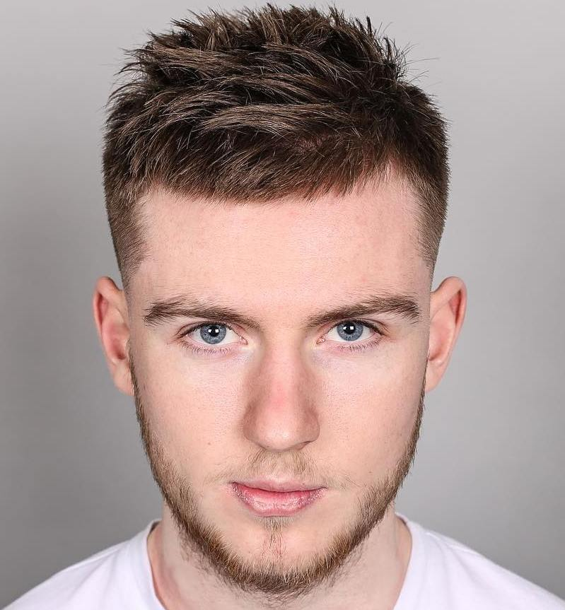 40 statement hairstyles for men with thick hair short spiky mens haircut urmus