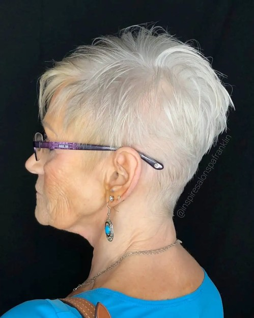 Short Tapered Cut for Older Women