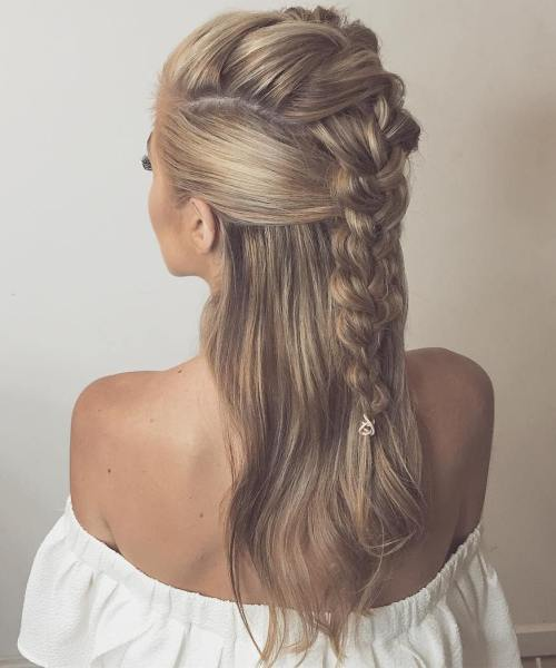 Half Up Mohawk Braid